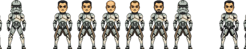 U.S. Clone Troopers Air Force Templates by Legodecalsmaker961