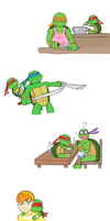 If Raph was a little shit part 4 by GoreChick