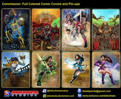 Commission: Full Colored Comic Covers and Pin-ups by debuhista