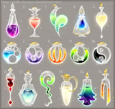Potion adopts 10 (CLOSED) by Rittik-Designs