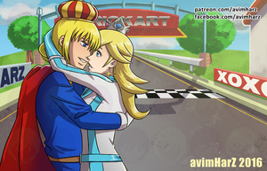 Commission: Rosalina and Helio by avimHarZ