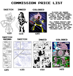 Commission Price List 2016 by ChaosCroc