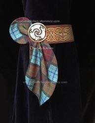 For Sale: Custom Made Merida belts with sash by Callesto