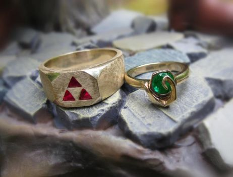 Our wedding rings [without overlay] by DarkTreeMedia
