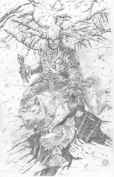 AC III Connor and Kenway: Pencils by IronWarrior777