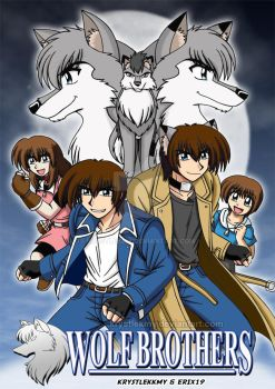 Wolf Brothers Manga Cover by krystlekmy