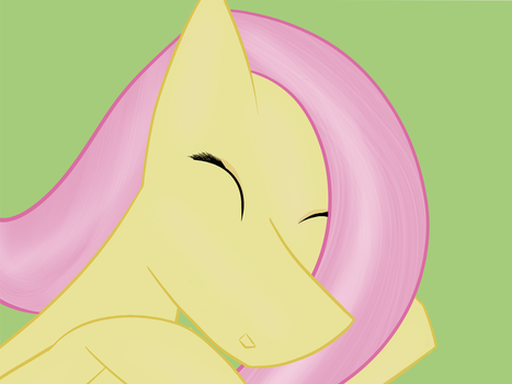 fluttershy asleep by robojot