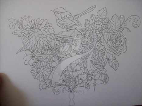 A tattoo design with Aiola WIP by twisk
