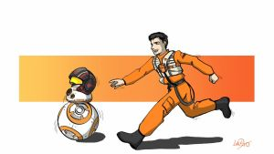 Poe and BB-8 by lapaowan