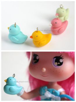Rubber Ducks - charms by thinkpastel