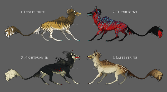Crowhound -adoptables for auction {CLOSED} by SmolderBone