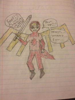 Dave Strider and Excalibur by Arrancaropenaccount