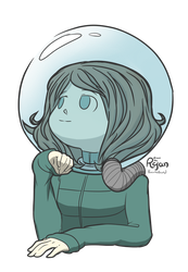 Spacesuit Girl by CalmAndDeadly