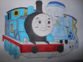 Tillie kissing Thomas by sgtjack2016