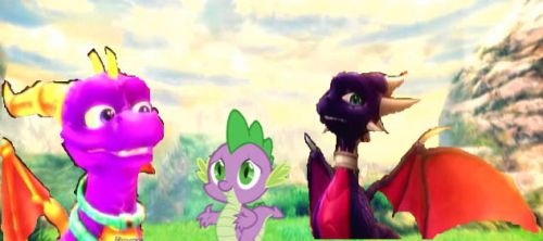 Spike found his Lost Parents by Tyrannosaurus-Rulez