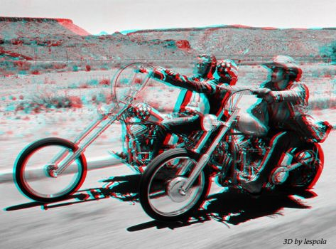 2d to 3d conversion (Easy-rider-1969) by lespola2