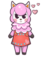 Animal Crossing - Reese Sticker by Sparkle-And-Sunshine
