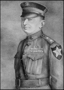 John A. Lejeune - pencil by LisaCrowBurke