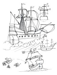 Draw a Sailing Ship by Diana-Huang