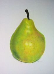 pear from a tutorial by MorgaineA
