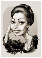 Sophia LOren by Mecho