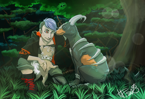 [AT] training in the forest by IceStarDragonHC