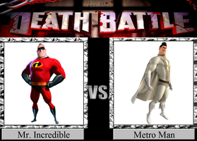 Mr. Incredible vs. Metro Man by JasonPictures