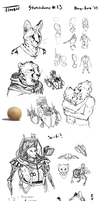 Sketchdump #13 by TitusWeiss