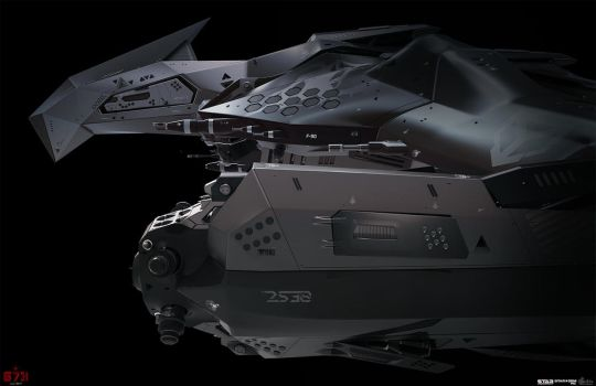 Concept spaceship for game Star Conflict by Oshanin