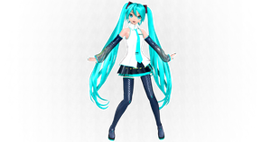 Project Diva Future tone Miku V3 #2 MODEL MMD by ProjectNeoloid