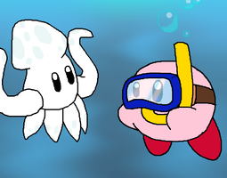 Kirby and Squishy by Rotommowtom