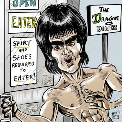 BruceLee-caricatureresolution2018-day18 by bre-bro