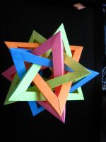 Five Intersecting Tetrahedra by 50an6xy06r6n
