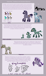 Forest Pony Specie Sheet#1 - Anathomy and Colors by Sinaloae