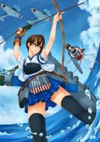 Kaga Aircraft Carrier by Aquamarine-39