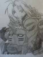 Elric brothers again! Yay! by zubbheart