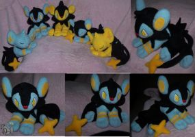 Laying Luxio plush Pokemon
