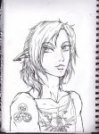 Wii U / AU Link Drawing by MagnificentCookie