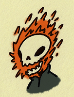 Mini Ghost Rider by sketchxj