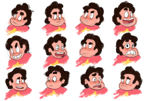 steven universe expressions by Dreamingoff