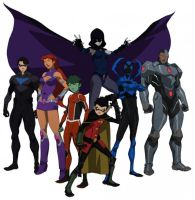 Teen Titans of the JL vs TT animated movie by ChrisChaos369