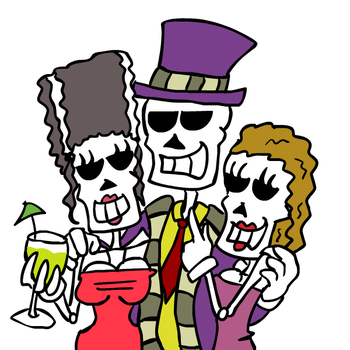 Pimp Skeleton by hooksnfangs
