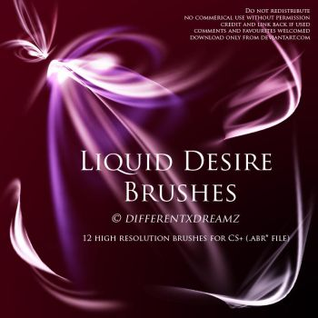 Liquid Desire Brushes by differentxdreamz