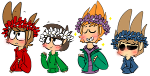 Eddsworld flower crowns by Jaziziplz