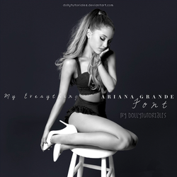 Ariana Grande My Everything Font by DollyTutoriales