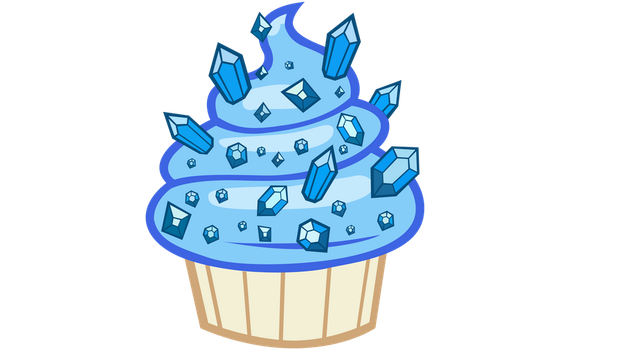 Sapphire cupcake vector by totalcrazyness101