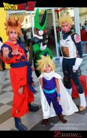 Super Siayans vs Perfect cell cosplay by jeffbedash325
