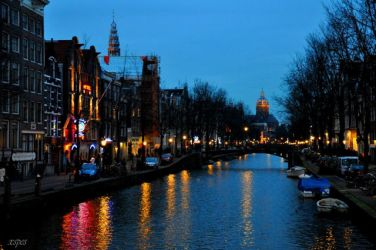 amsterdam canal by xspes