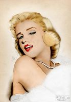 Marilyn Monroe Colour by Steve-Nice