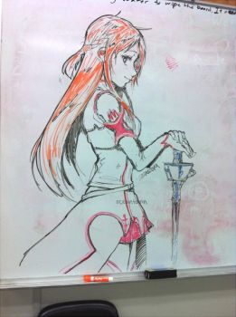 Asuna Whiteboard by oceantann
